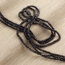 Czarny spinel oponka fasetowana 3x2mm