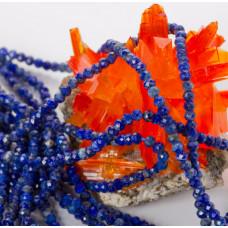 Lapis lazuli oponka fasetowana 3x2mm
