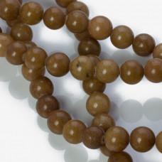 Jadeit marmurkowy kulka gładka jasno brązowa 10mm
