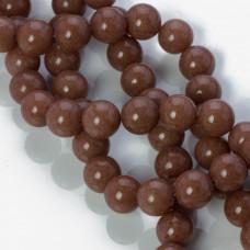 Jadeit marmurkowy kulka gładka brązowa 10mm