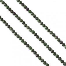 Zoisyt z rubinem kulka fasetowana 6mm