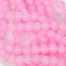 Jadeit marmurkowy kulki różowe 8mm
