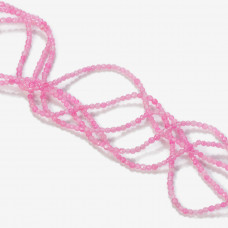 Jadeit kulki fasetowane różowe 2mm
