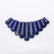 Lapis lazuli zestaw naszyjnika słupki