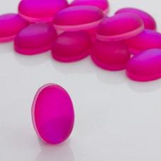 Kaboszon ze szkła kryształowego owal fuksja 28x18mm
