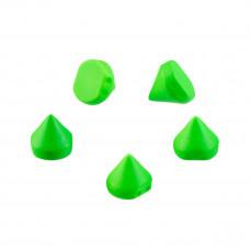 Ćwieki kolce neon green 10mm