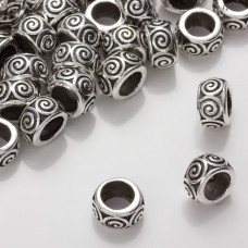 Przekładka z ciemnego srebra ze ślimaczkiem 13,5mm