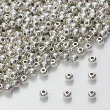 Drobny koralik w srebrnym kolorze 4mm
