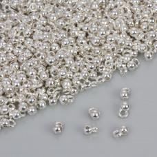 Drobna gładka krawatka w kolorze srebrnym 3.5mm