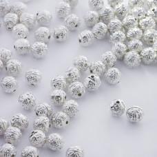 Metalowy koralik kulka ozdobna 7,5mm