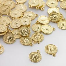 Metalowa zawieszka moneta 13mm