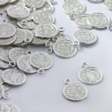 Zawieszka metalowa moneta 12mm