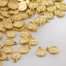 Zawieszka metalowa mini moneta 8mm
