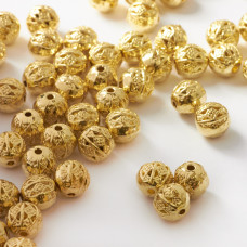 Metalowe koraliki kulki ozdobne 8mm
