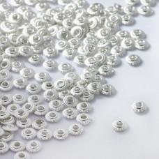 Koraliki metalowe płaskie dyski 5mm