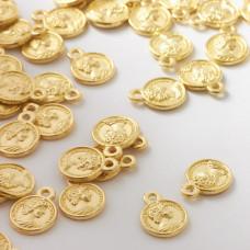 Metalowa zawieszka moneta 10mm