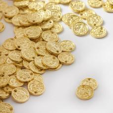 Zawieszka metalowa monet z dziurką 8mm
