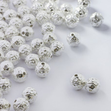 Koraliki metalowe kulki w kółeczka 8mm
