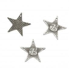 Zawieszka gwiazdka dwustronna koloru srebrnego 21mm