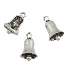 Zawieszka dzwoneczek koloru srebrnego 22x13mm