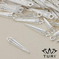 Zawieszka szpikulec w srebrnym kolorze 20.5x4.5m