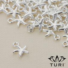 Zawieszka rozgwiazda w srebrnym kolorze 10mm
