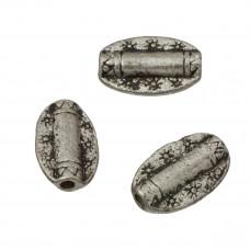 Metalowe koraliki owale w gwiazdki 14mm