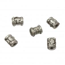 Koraliki metalowe rurki 7mm