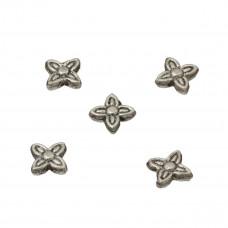 Koraliki metalowe gwiazdki 7mm