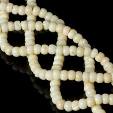 Koral bambusowy oponki białe 7x5mm