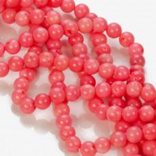 Koral bambusowy kulka gładka różowy 8-9mm