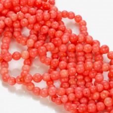 Koral bambusowy kulka różowy 5-6mm