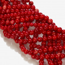 Koral bambusowy kulka czerwona 4-5mm
