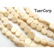 Koral bambusowy krążki białe 10mm