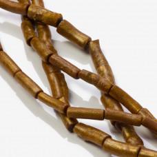 Koral bambusowy patyczek złoty 20mm