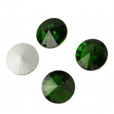 Kryształek rivoli fern green 14mm