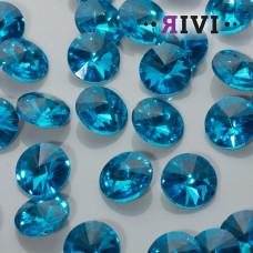 Kaboszon kryształowy aquamarine 16mm