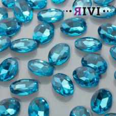 Kaboszon kryształowy aquamarine 13x18mm