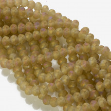 Kryształki oponki matowe golden shade 6x8mm
