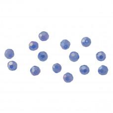 Kryształki kulki fasetowane white opal 6mm