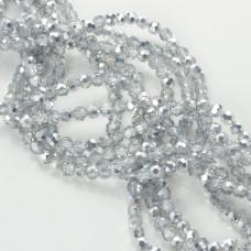 Kryształki kulki fasetowane half silver 4mm
