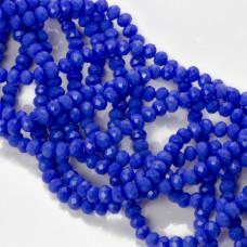 Kryształki oponki fasetowane blue 3x4mm