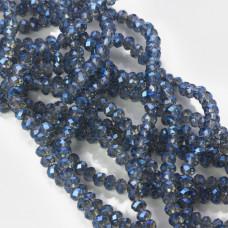 Kryształki oponki fasetowane mistic blue 3x4mm