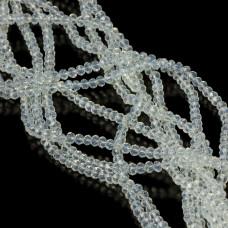 Kryształki oponki fasetowane opal 3x4mm