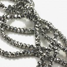 Kryształki oponki silver 3x4mm