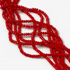 Kryształki oponki fasetowane porcelain red 2x3mm