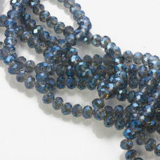 Kryształki oponki mistic blue 4x6mm