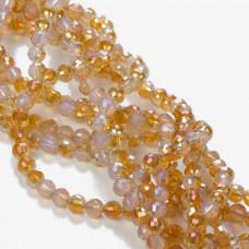Kryształki kulki opal amber 6mm