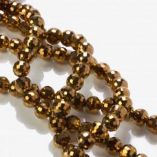 Kryształki kulki 96 cuts golden bronze 10mm
