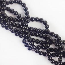 Koraliki szklane powlekane czarne 8 mm